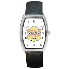 Angry Monster Portrait Drawing Barrel Metal Watches