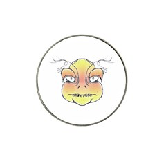 Angry Monster Portrait Drawing Hat Clip Ball Marker (4 pack)