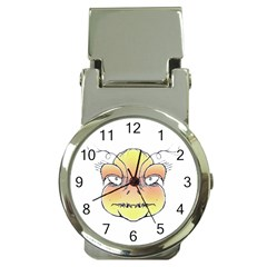 Angry Monster Portrait Drawing Money Clip Watches