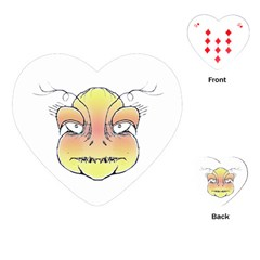Angry Monster Portrait Drawing Playing Cards (Heart)