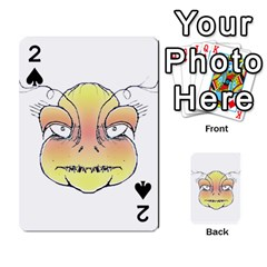 Angry Monster Portrait Drawing Playing Cards 54 Designs