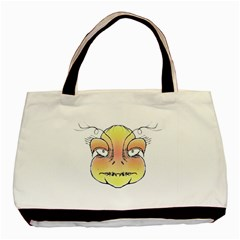 Angry Monster Portrait Drawing Basic Tote Bag