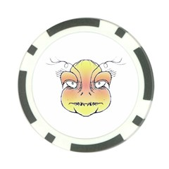 Angry Monster Portrait Drawing Poker Chip Card Guards