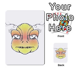 Angry Monster Portrait Drawing Multi Purpose Cards (rectangle)