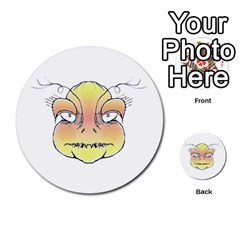 Angry Monster Portrait Drawing Multi Purpose Cards (round)