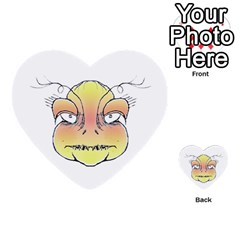 Angry Monster Portrait Drawing Multi-purpose Cards (Heart)