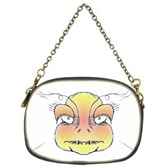 Angry Monster Portrait Drawing Chain Purses (One Side)