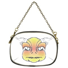 Angry Monster Portrait Drawing Chain Purses (Two Sides)