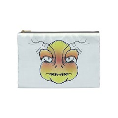 Angry Monster Portrait Drawing Cosmetic Bag (Medium)