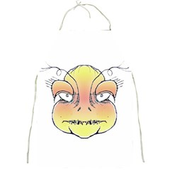 Angry Monster Portrait Drawing Full Print Aprons