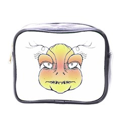 Angry Monster Portrait Drawing Mini Toiletries Bags