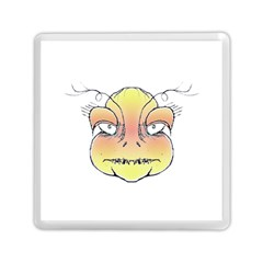 Angry Monster Portrait Drawing Memory Card Reader (Square)