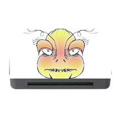 Angry Monster Portrait Drawing Memory Card Reader with CF