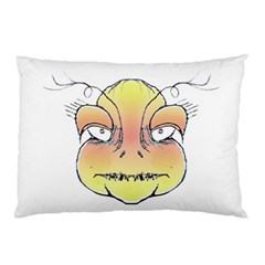 Angry Monster Portrait Drawing Pillow Cases (Two Sides)