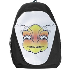 Angry Monster Portrait Drawing Backpack Bag