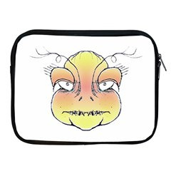 Angry Monster Portrait Drawing Apple iPad 2/3/4 Zipper Cases