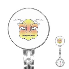 Angry Monster Portrait Drawing Stainless Steel Nurses Watches