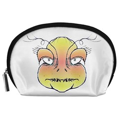 Angry Monster Portrait Drawing Accessory Pouches (Large)