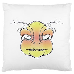 Angry Monster Portrait Drawing Standard Flano Cushion Cases (One Side)