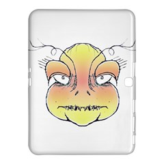 Angry Monster Portrait Drawing Samsung Galaxy Tab 4 (10.1 ) Hardshell Case