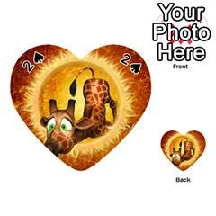I m Waiting For You, Cute Giraffe Playing Cards 54 (Heart)