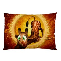 I m Waiting For You, Cute Giraffe Pillow Cases (Two Sides)