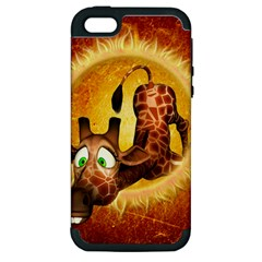 I m Waiting For You, Cute Giraffe Apple iPhone 5 Hardshell Case (PC+Silicone)