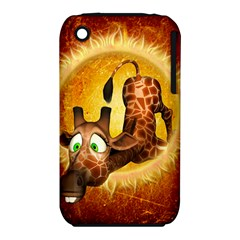 I m Waiting For You, Cute Giraffe Apple iPhone 3G/3GS Hardshell Case (PC+Silicone)
