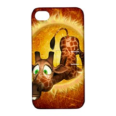 I m Waiting For You, Cute Giraffe Apple iPhone 4/4S Hardshell Case with Stand