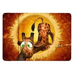 I m Waiting For You, Cute Giraffe Samsung Galaxy Tab 8.9  P7300 Flip Case
