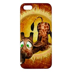 I m Waiting For You, Cute Giraffe iPhone 5S Premium Hardshell Case