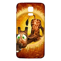 I m Waiting For You, Cute Giraffe Samsung Galaxy S5 Back Case (white)