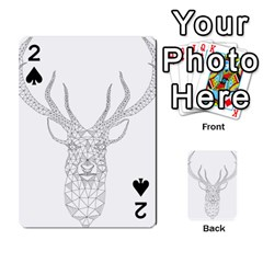 Modern Geometric Christmas Deer Illustration Playing Cards 54 Designs