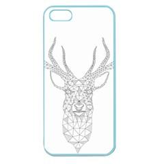 Modern Geometric Christmas Deer Illustration Apple Seamless iPhone 5 Case (Color)