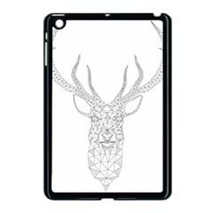Modern Geometric Christmas Deer Illustration Apple iPad Mini Case (Black)