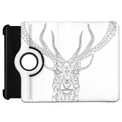 Modern Geometric Christmas Deer Illustration Kindle Fire HD Flip 360 Case