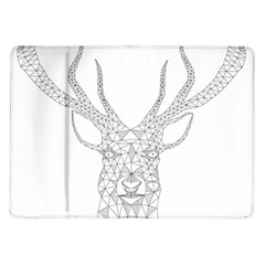 Modern Geometric Christmas Deer Illustration Samsung Galaxy Tab 10.1  P7500 Flip Case