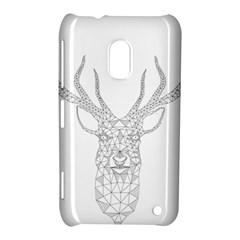 Modern Geometric Christmas Deer Illustration Nokia Lumia 620
