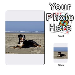 Bernese Mountain Dog Laying On Beach Multi-purpose Cards (Rectangle)