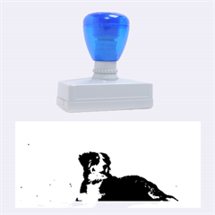 Bernese Mountain Dog Laying On Beach Rubber Stamps (Large)