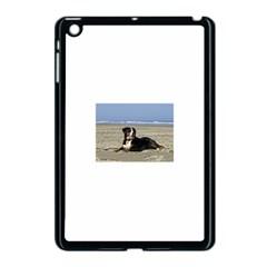 Bernese Mountain Dog Laying On Beach Apple iPad Mini Case (Black)