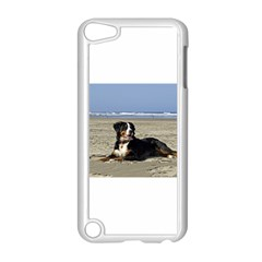 Bernese Mountain Dog Laying On Beach Apple iPod Touch 5 Case (White)