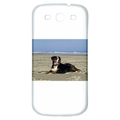 Bernese Mountain Dog Laying On Beach Samsung Galaxy S3 S III Classic Hardshell Back Case