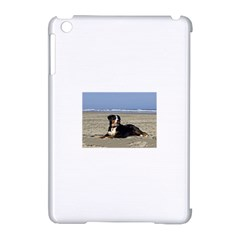 Bernese Mountain Dog Laying On Beach Apple iPad Mini Hardshell Case (Compatible with Smart Cover)