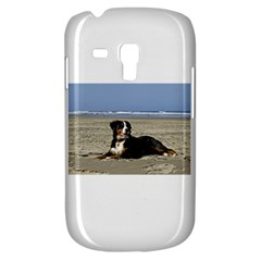Bernese Mountain Dog Laying On Beach Samsung Galaxy S3 MINI I8190 Hardshell Case