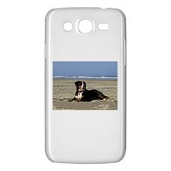 Bernese Mountain Dog Laying On Beach Samsung Galaxy Mega 5.8 I9152 Hardshell Case