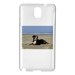 Bernese Mountain Dog Laying On Beach Samsung Galaxy Note 3 N9005 Hardshell Case