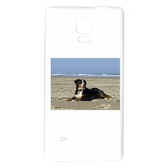 Bernese Mountain Dog Laying On Beach Galaxy Note 4 Back Case