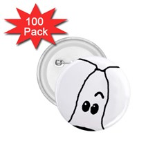 Peeping White Havanese 1.75  Buttons (100 pack)