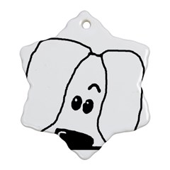 Peeping White Havanese Snowflake Ornament (2-Side)